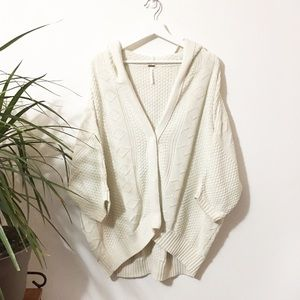 Free People Washed Out Snap Up Dolman Cardigan